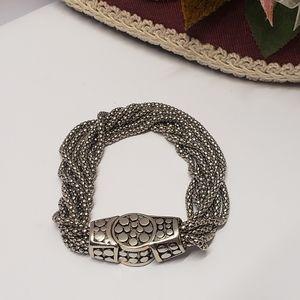Unique Vintage Magnetic Clasp Statement Bracelet